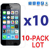 10x Wholesale Lot Tempered Glass Screen Protector for Apple iPhone 5/5C/5S