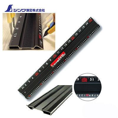 Shinwa 65032 Aluminium Cutting 1m Rule Straight Edge