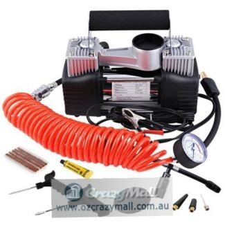 Double Alloy Steel 12V 85L/Min Tyre Air Compressor