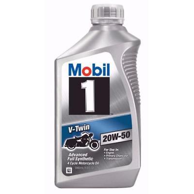 Mobil 1 V-Twin 20W-50 Motorcycle Oil, 1-Quart 112630