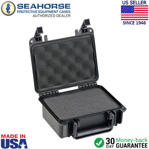 Seahorse SE120 Gun Case with Foam, Small, Black