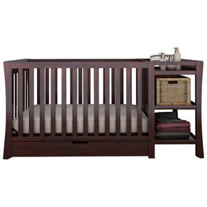 Graco Tatum 4-in-1 Convertible Crib with Drawer & Changer-Espres