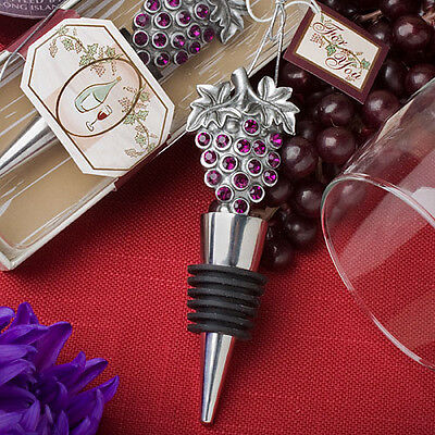 (75 Vineyard Wine Bottle Stopper Grapes Bridal Wedding Party Event Favor Lot)