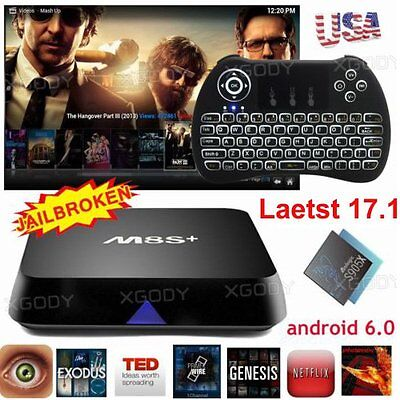 M8S+ NEW 17.1 KRYPTON 4K Android 6.0 TV BOX M8S+ S905X Quad Core Free Keyboad I8
