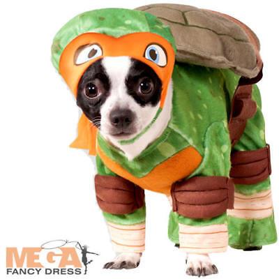 TMNT Michealangelo Dog Fancy Dress Superhero Teenage Mutant Ninja Turtle Costume - Ninja Turtle Dog Costume