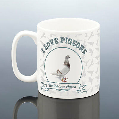 LOVE PIGEONS RACING PIGEON FANCIER MUG Birthday Gift Him Men Dad Grandad Uncle