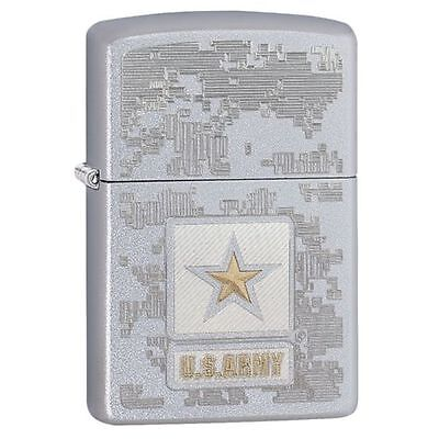 Zippo Windproof U.S. Army Lighter, Two Tone Engraving, 29388, New In Box