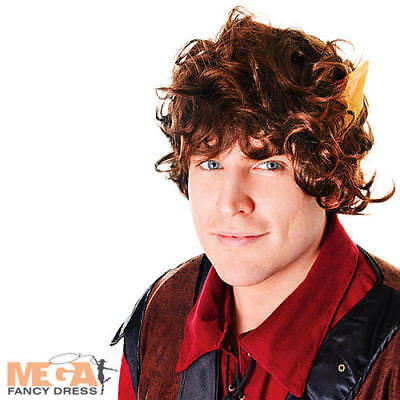 Mythical Wig with Ears Frodo Fancy Dress Lord of The Rings Hobbit Adult Costume - Frodo Lord Of The Rings Costume
