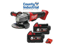 Milwaukee M18 Fuel M18CAG115XPDB-502X 115mm Angle Grinder 18v -2x5.0Ah Batteries