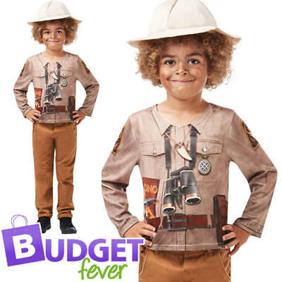 Dino Explorer Boys Fancy Dress Jungle Safari Zoo Keeper Kids Halloween - Children's Zoo Keeper Costume