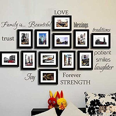 Removable Decal Art Wall Sticker Mural Home Living Room Decor Quote Family Words