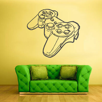 Wall Decal Vinyl Sticker Decal Gaming Xbox 360 Ps3 Game Ps2 Controller (Z2028) for sale  Shipping to India