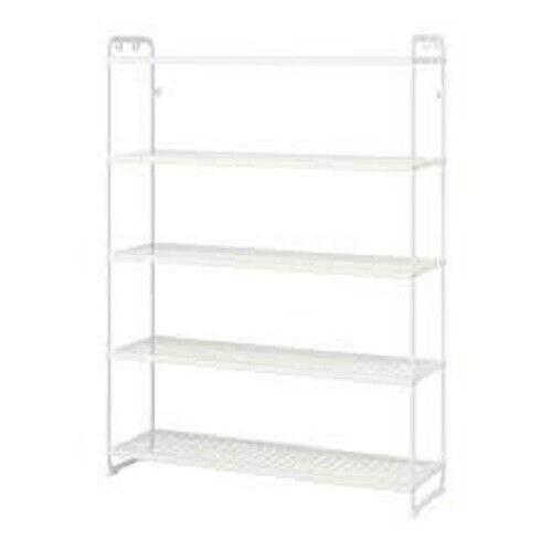 IKEA MULIG Regal Badregal Bücherregal stabil Metall weiß 120x34x162cm 602.241.63
