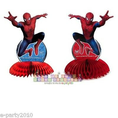 SPIDER-MAN 3 CENTERPIECE ~ Super Hero Birthday Party Supplies Table Decorations - Spider Man Decorations