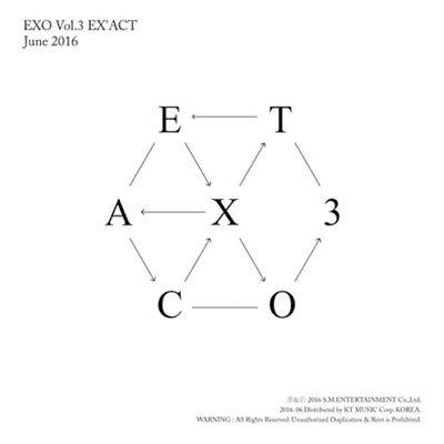 Exo   Vol 3   Exact  Korean Ver   Random    Poster