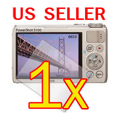 1x Canon PowerShot S100 Digital Camera LCD Screen Protector Cover Guard Film for sale  Shipping to India