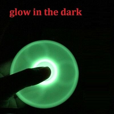 6PCS US Glow in the Dark Fidget Hand Finger Tri Spinner EDC Stress Toys NEW hot