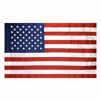 USA US 2-1/2x4 AMERICAN EMBROIDERED FLAG POLE HEM BANNER SLEEVE POCKET for Pole
