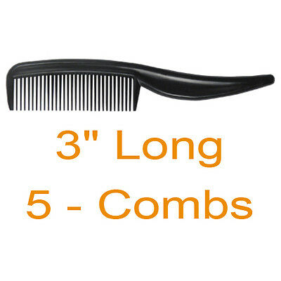 "Moustache Beard Eyebrow Comb 3"" LONG AND 5/8"" TALL 5 combs per pack"