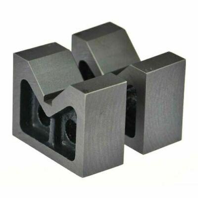 Set Of 2 Pcs Cast Iron V-block 6 Long 6 X 2 X 4 Bluefox