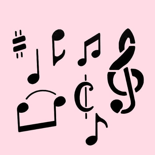 Musical Notes Stencil Music Template Stencils Craft Paint Art By
