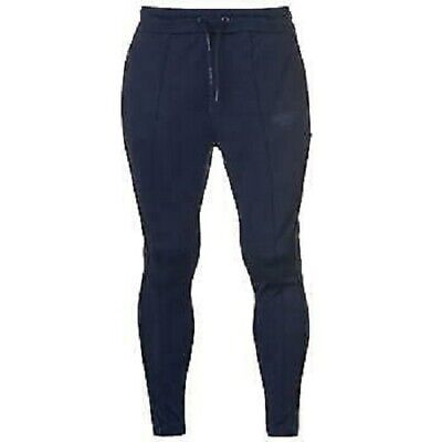 IL SARTO Mens Navy Blue Lorenzo Tapered Poly Tracksuit Pants Bottoms Large BNWOT