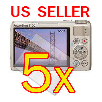 5x Canon PowerShot S100 Digital Camera LCD Screen Protector Cover Guard Film for sale  Shipping to India