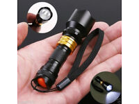 3W MINI GOLD CREE Q5 LED TORCH SUPER BRIGHT FLASHLIGHT WATERPROOF SWAT TURNED.**