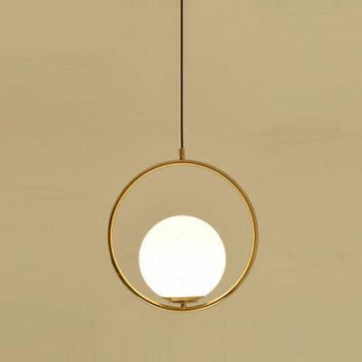 White Glass Ball Modern Gold LED Pendant Lamp Chandelier Ceiling Lighting ()