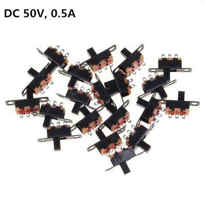 Mini Miniature Onoff 1p2t 3-pin 2 Position Slide Switch Spdt 50v 0.5a Black