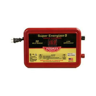 Super Energizer 5 Electric Fence Charger 50-mile Low Impedance Plug-in 110-1