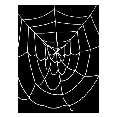 4.5' ft Deluxe Large Black Spider Web ~ HALLOWEEN SCARY PARTY DECORATION PROP](Large Spider Web Halloween Decoration)
