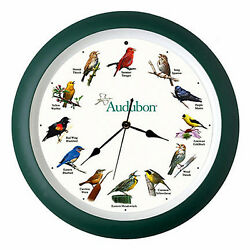 WALL CLOCKS - SINGING BIRDS WALL CLOCK - 13 DIAMETER - AUDUBON SOCIETY - BIRD