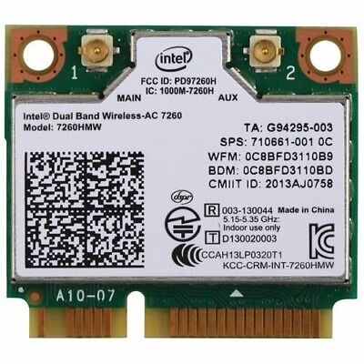 Intel Network 7260.HMWG.R Revised WiFi Wireless-AC Dual Band 2x2 AC+Bluetooth for sale  Shipping to India