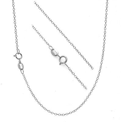 ".925 Sterling Silver 1mm Thin Cable Chain Necklace - 14"" 16"" 18"" 20"" 22"" 24"" 30"""