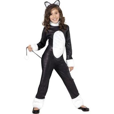 Smi - Halloween Kinder Kostüm coole Katze als Tier verkleiden