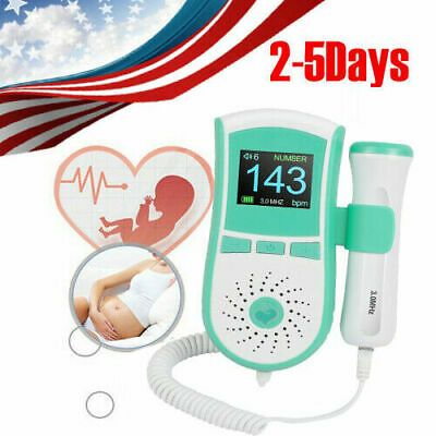 Handheld Pocket Fetal Doppler Prenatal Heart Beat Monitor 3mhz Probe For Women