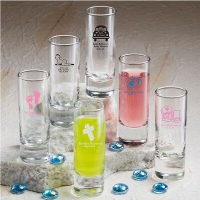 50 Personalized 2 oz Ounce Shooters Shot Glasses Wedding Party Shooter - Shot Glass Wedding Favors
