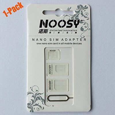 Noosy Sim Card Adapter Kits with Nano Sim Adapter and Micro Sim Adapter the