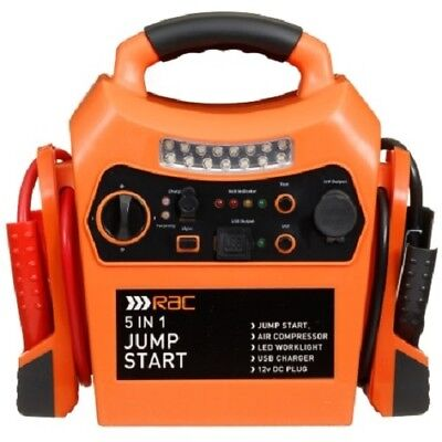 Rac 12V PORTABLE 5 IN 1 CAR JUMP STARTER AIR COMPRESSOR BATTERY BOOSTER CHARGE segunda mano  Embacar hacia Spain