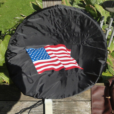 satellite dish cover - fits Dish network or Direct TV USA FLAG -  dish hoodie  Directv Satellite Dish Cover
