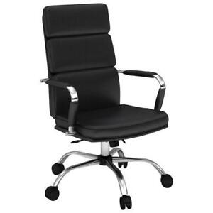 Besta 5000-CHA-CONF1032-18  Eleganté Synthetic Leather Manager & Executive Chair - Black (Open Box)Besta