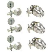 Entry Door Lock Set Nickel