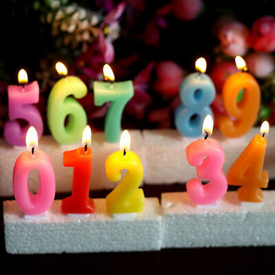 Unique Coloful Numbers Cake Candles for Birthday Wedding Party Anniversary