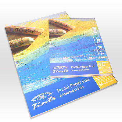 Winsor & Newton Tints Pastel Paper Pad A3 - 6 Assorted Colours 24 Sheets, used for sale  Shipping to United States