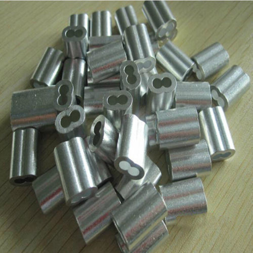 """Aluminum Swage Sleeves for 3/16"""" Wire Rope Cable: 50, 100, 200, 500 and 1000 pcs"""