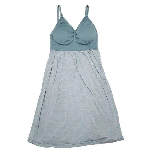Motherhood Maternity Nursing Dress Blue Breastfeeding Sleeveless Dress Medium