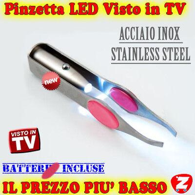 Sopracciglia Pinza Pinzetta Per Ciglia Pinze Eyelashes Con Luce Led Batterie len