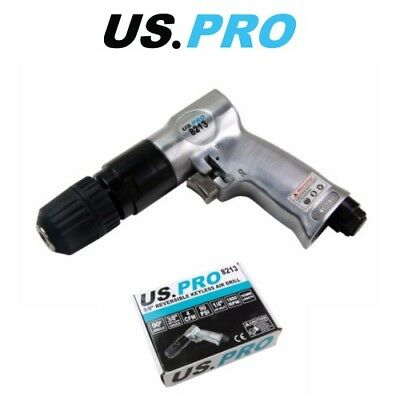 "US PRO 3/8"" KEYLESS REVERSIBLE AIR DRILL CHUCKLESS 8213"