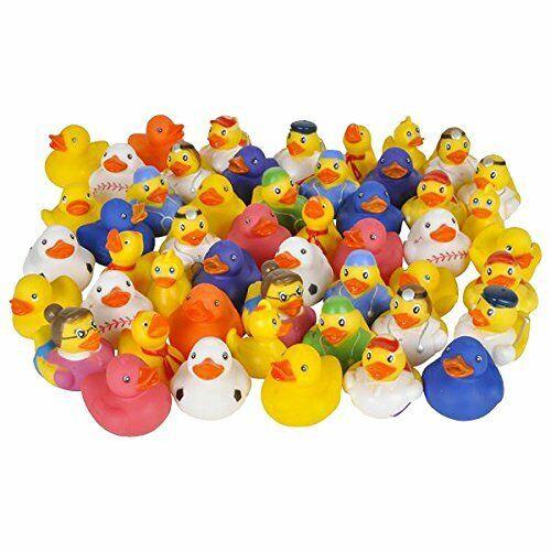Lot of 50 Assorted Rubber Ducks - Duckies